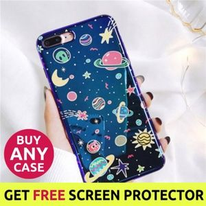 iPhone Max/XR/XS/X/7/8/Plus Glossy Universe Case